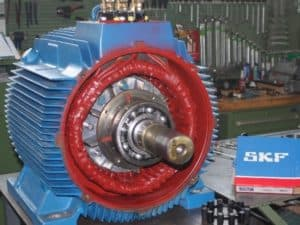 4. Bild: Reparatur von Drehstrom-Motoren
